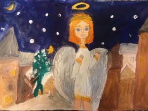 """4-ų klasių piešinių paroda """"Angelas sargas"""""""